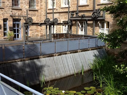 Wassereinlauf an der Baumwollspinnerei