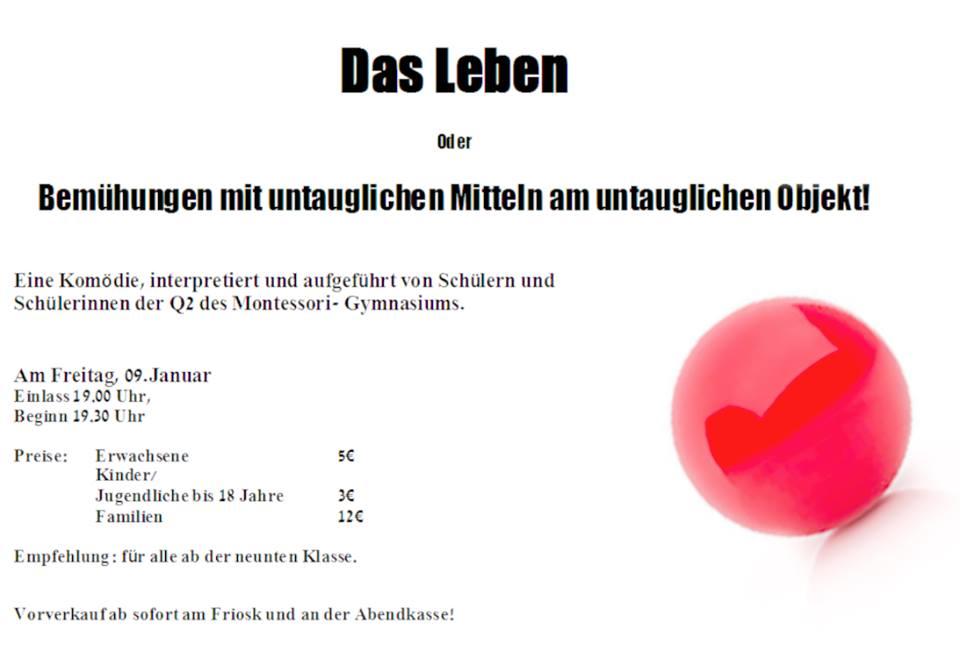 Theater Plakat - Das Leben_