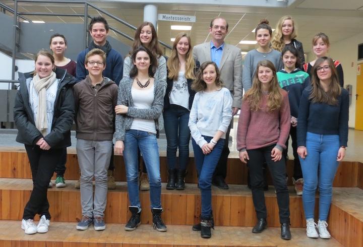 Voltaire-Schüler 2015 und ihre Gastgeber
