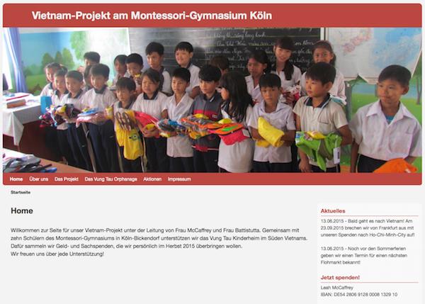 Vietnam-Projekt - Internetseite