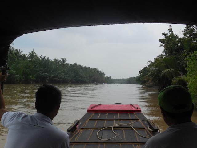 Das Wochenende verbringen wir im Mekong Delta mit Flusstouren und Fahrradtouren.
