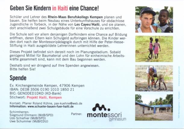 Das Haiti-Projekt (zum Vergößern anklicken)